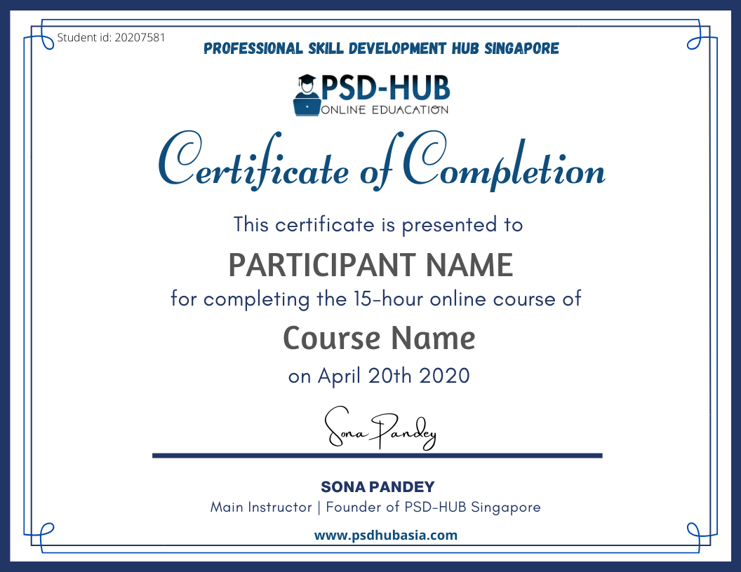 GOAL EXAMPLE CERTIFICATE